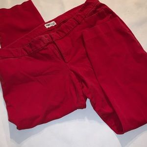 Old navy pixie Size 18 plus size red Capri pants